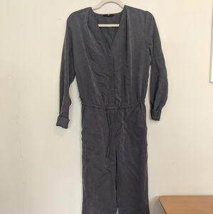 Gray workwear jumpsuit